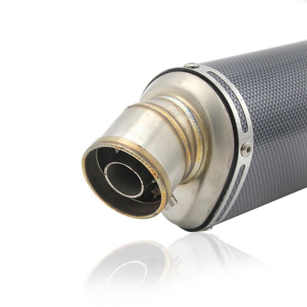 Acier Blanc Sharplace Exhaust Muffler Silencieux D/Échappement 51mm pour Scooter 125-600CC