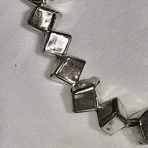 (Remarkable 1 Thai Hill Tribe 'Origami' Fine Silver Cube Bead for Jewelry)