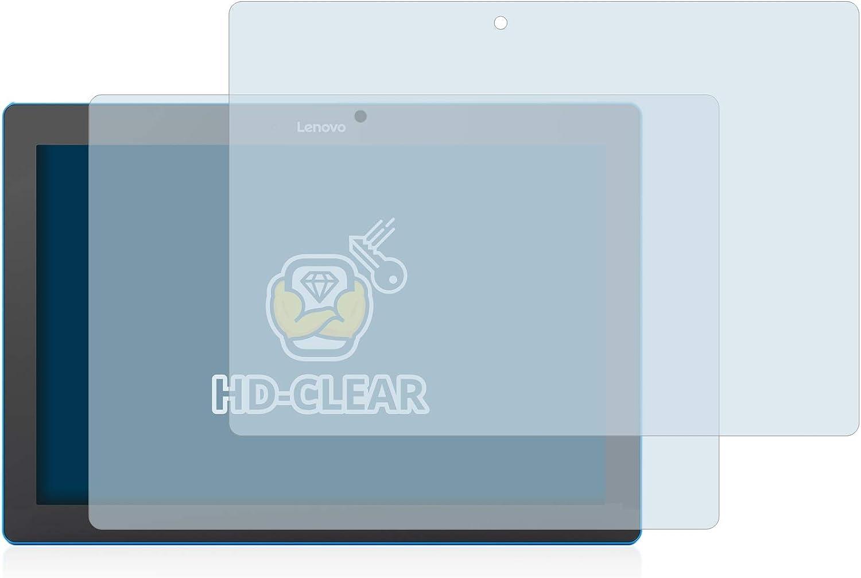 Anti-Burbujas Anti-Huellas BROTECT Protector de Pantalla para Lenovo Tab 10 TB-X103F - HD-Transparente 2 Unidades