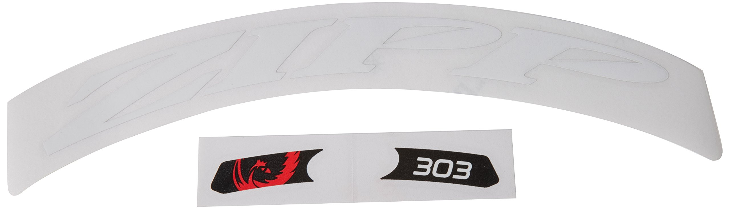 303 Matte Red Logo Zipp Decal Set Complete for One Wheel