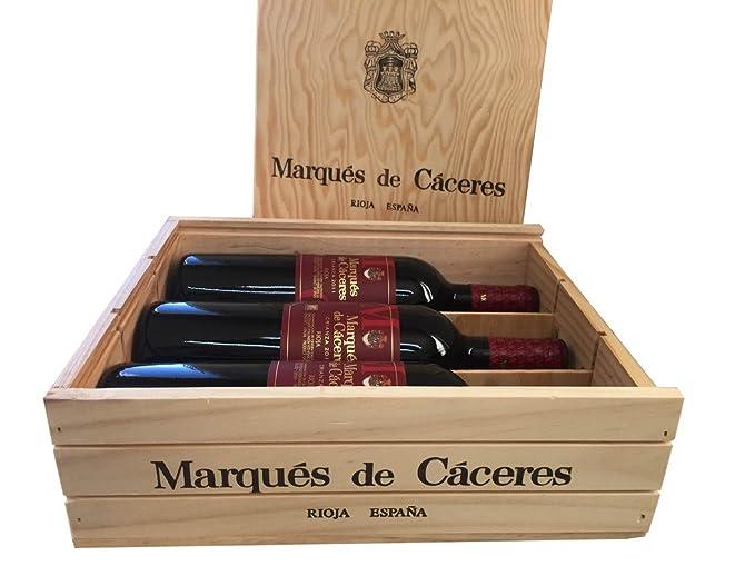 Caja de madera 3 botellas - Marqués de Caceres Crianza ...