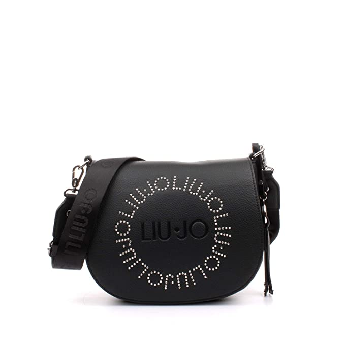 BORSA SADDLE LIU-JO MOD. COLORADO M IN ECOPELLE COLORE NERO DONNA B19LJ78 4362a9d855a