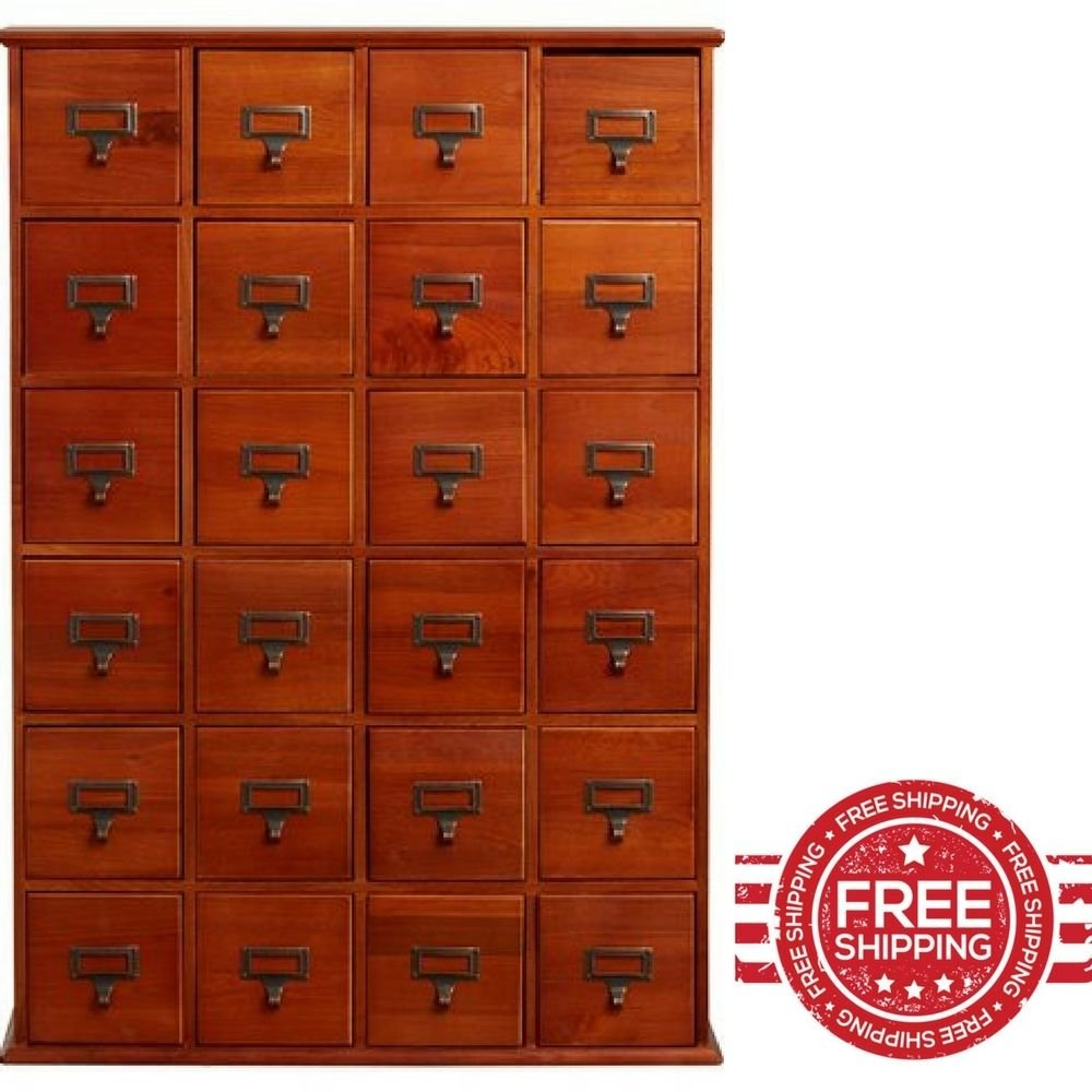 Media Storage Organizer Drawers Cube Wide Storage Home Office DVD CD Furniture & E book By Easy2Find