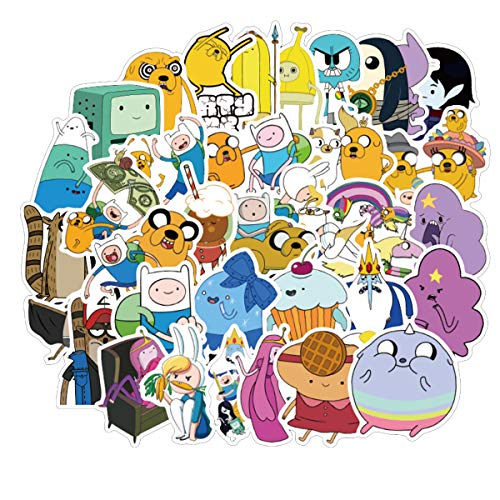 Adventure Time Stickers for Laptop Water Bottle Luggage Snowboard Bicycle Skateboard Decal for Kids Teens Adult Waterproof Aesthetic Stickers Best Gift for Kids (Laptop Time Decal Adventure)