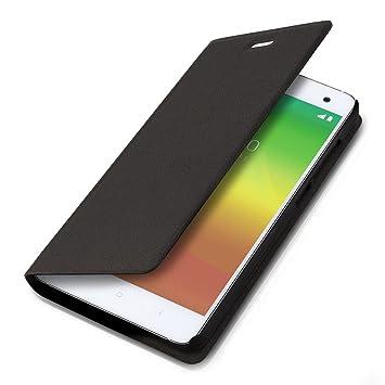 kwmobile Funda para Xiaomi MI4 - Carcasa con [tapa tipo libro] para móvil - Case protector en [negro]