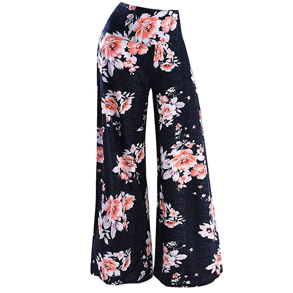 Palazzo Pants for Women,2019 New Women s Stretchy Wide Leg Palazzo Lounge Pants Comfy Chic Solid and Printed Pants