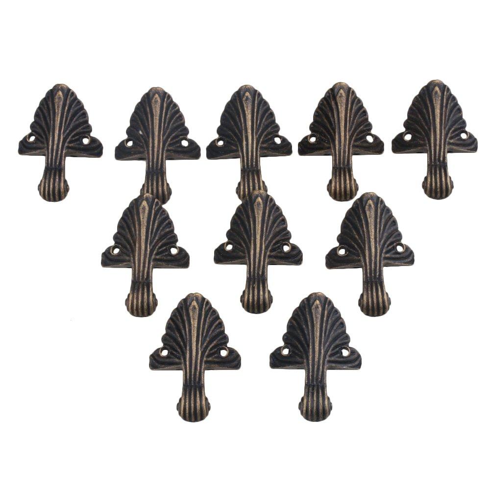 Yibuy - 10 Protectores de Esquina de Aleació n zinica con pie para Cajas de Regalo, Manualidades de Mesa etfshop