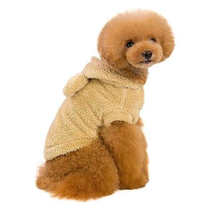 Amazon.com   FML PET Cute Bear Bunny Ear Design Hooded Coat for Pet ... 41aad1bef