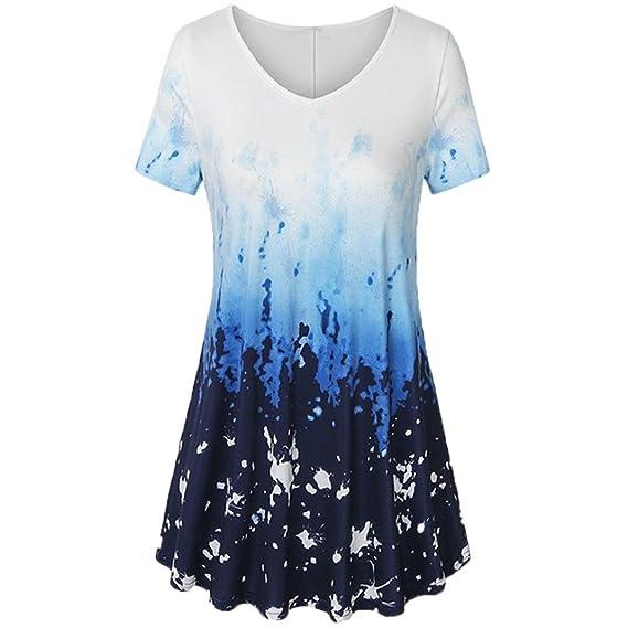 FAMILIZO Camisetas Mujer Verano Camisetas Mujer Blusa Mujer Elegante Camisetas Mujer Manga Corta Casual Camisetas Mujer