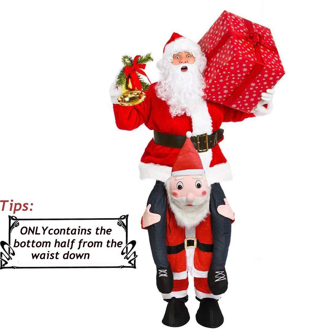 Disfraz de Papá Noel, fácil de Llevar y Caminar, Disfraz de Navidad para Mujeres y Hombres, Disfraz Unisex de Adulto para Montar en los Hombros de ...