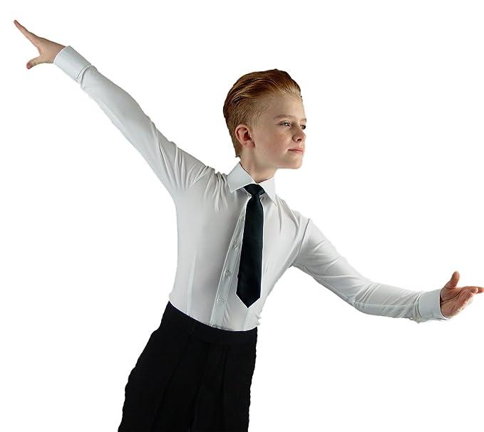 Amazon.com: BS01 Niños Salón de baile suave Camisa con ...