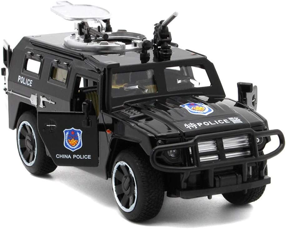 YEIBOBO ! 1:32 Diecast Pull Back Military Armored Vehicle Toy with Lights and Sounds (Tiger Armor)