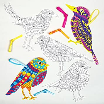 Kreatives Anhanger Bastelset Vogel Fur Kinder Zum Basteln Und