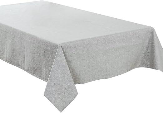Tong Yue 100 x 130 cm Mantel (Lino y algodón Impermeable Color ...