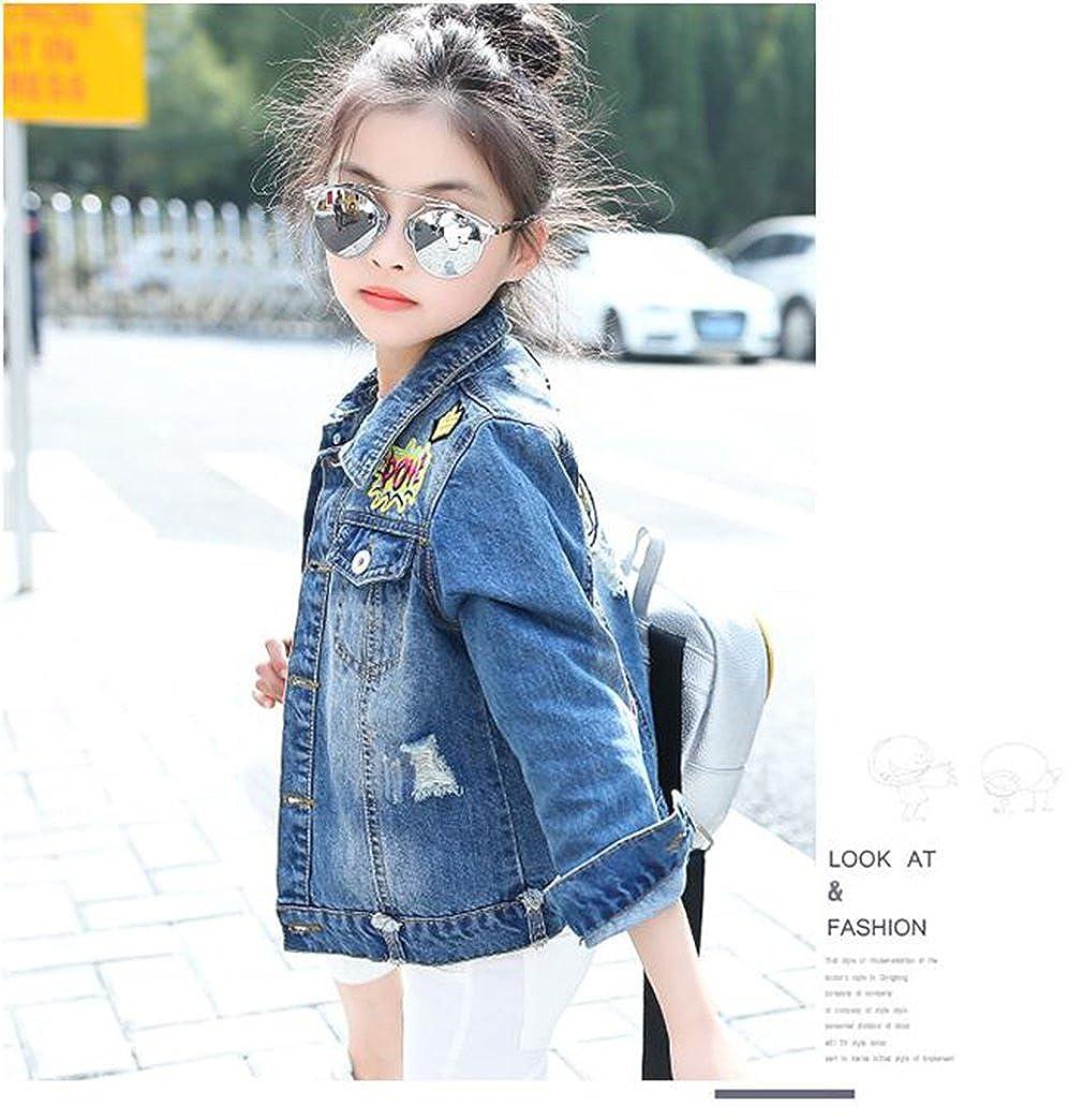 c79ddba2e Kids Girls Fashion Denim Jacket Casual Button Down Jean Outerwear Cowboy  Coat
