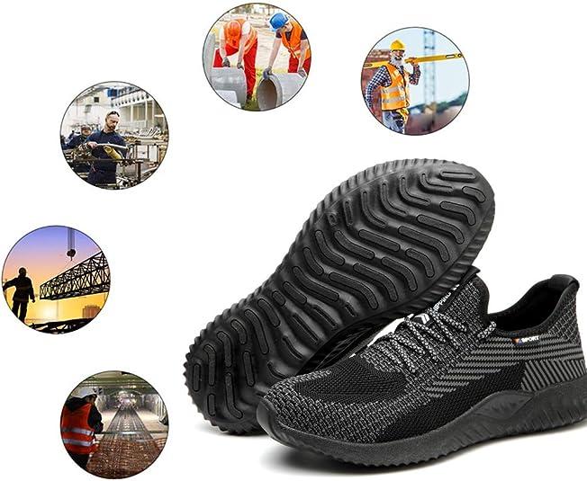 respirantes et antid/érapantes Chaussures de travail Chaussures de s/écurit/é pour homme et femme avec capuchon en acier