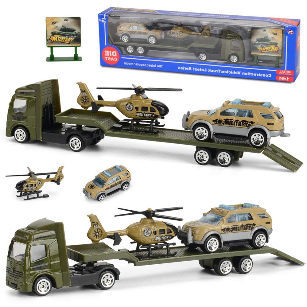 Hanbaili Inertial Trailer Model Car Funny Police Car Fire Fighting Truck Intelligence Decor for Children Kids
