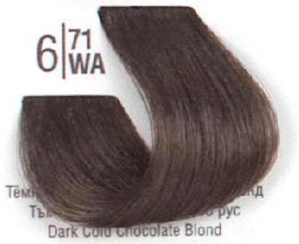 Tinte Permanente Spa Master, 6.71 Rubio Oscuro Chocolate Frio - 100ml