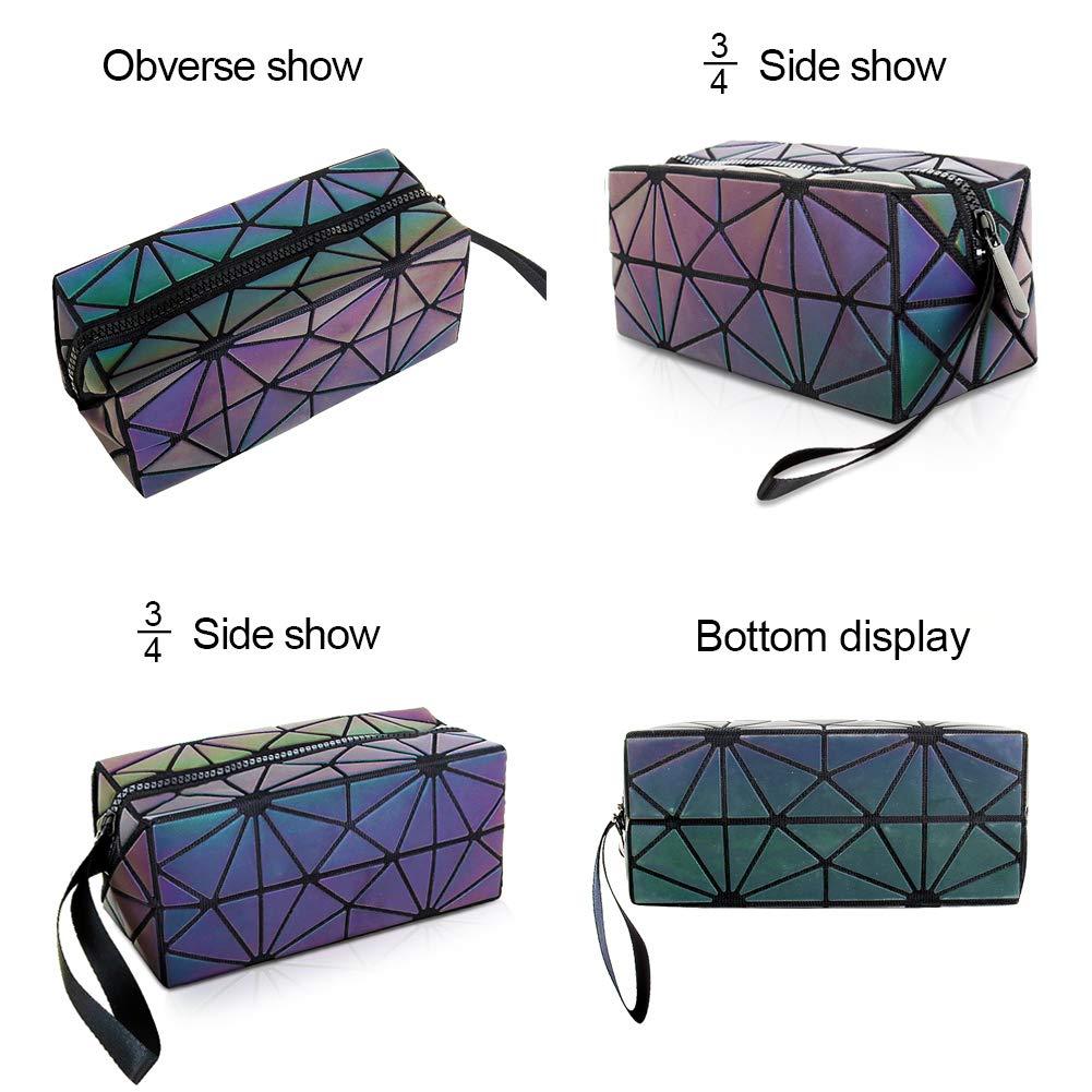 Amazon.com: Hermoso holográfico reflectante luminoso bolso ...