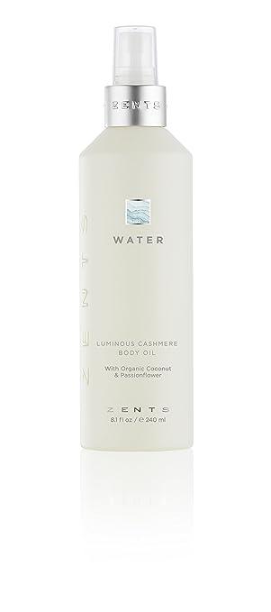 Zents Luminous Cashmere Body Oil, Soften and Moisturize Skin with Vitamin E  and Organic Coconut Oil, 8 fl