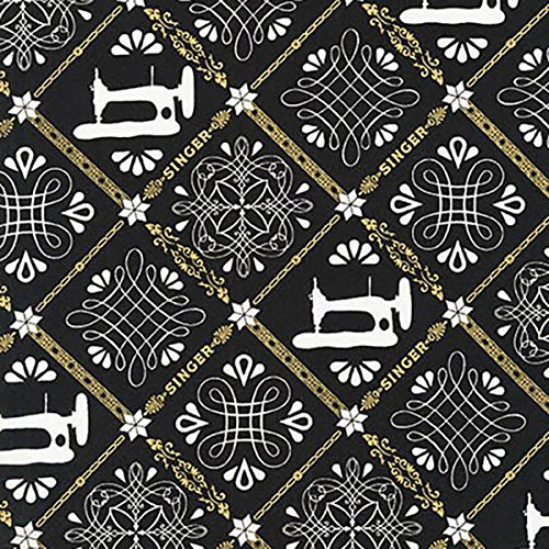 Robert Kaufman Fabrics Sewing With Singer Metallic Singer Sewing Trellis