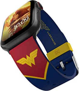 DC Comics - Wonder Woman Tactical Edition – Officially Licensed Silicone Smartwatch Band Compatible with Apple Watch (not included) – Fits 38mm, 40mm, 42mm and 44mm