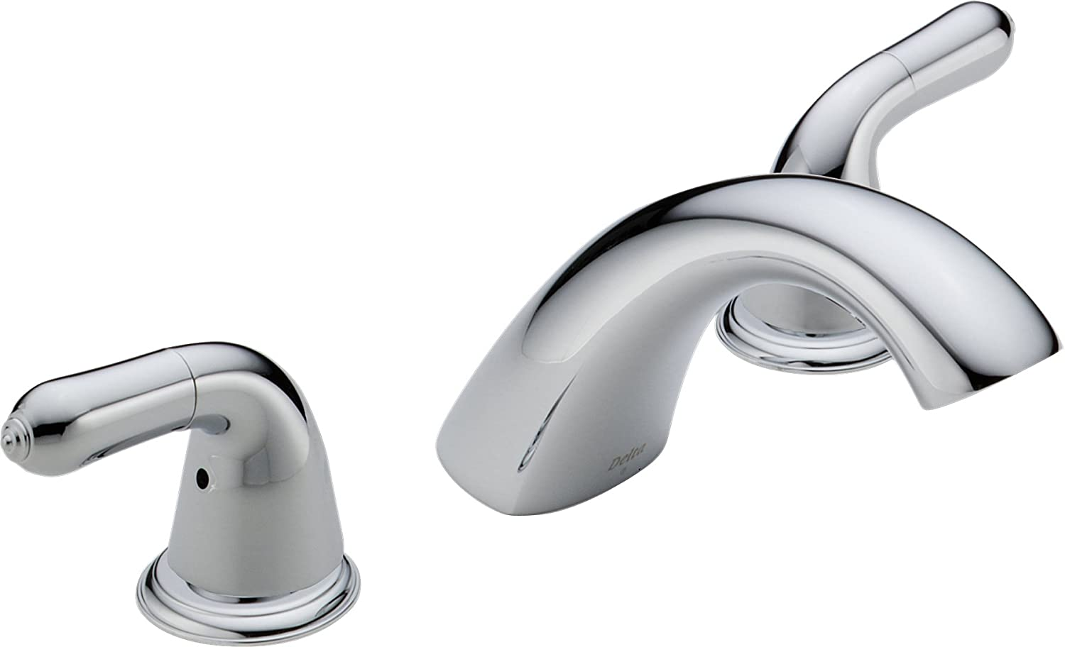 Delta T2730 LHP Roman Tub Faucet Trim Without Handles, Chrome     Amazon.com