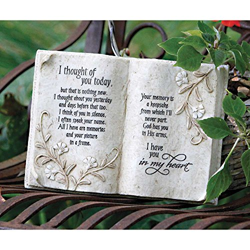 (Jozie B 246200 Thought of You Today in Memory Book Shape Plaque)