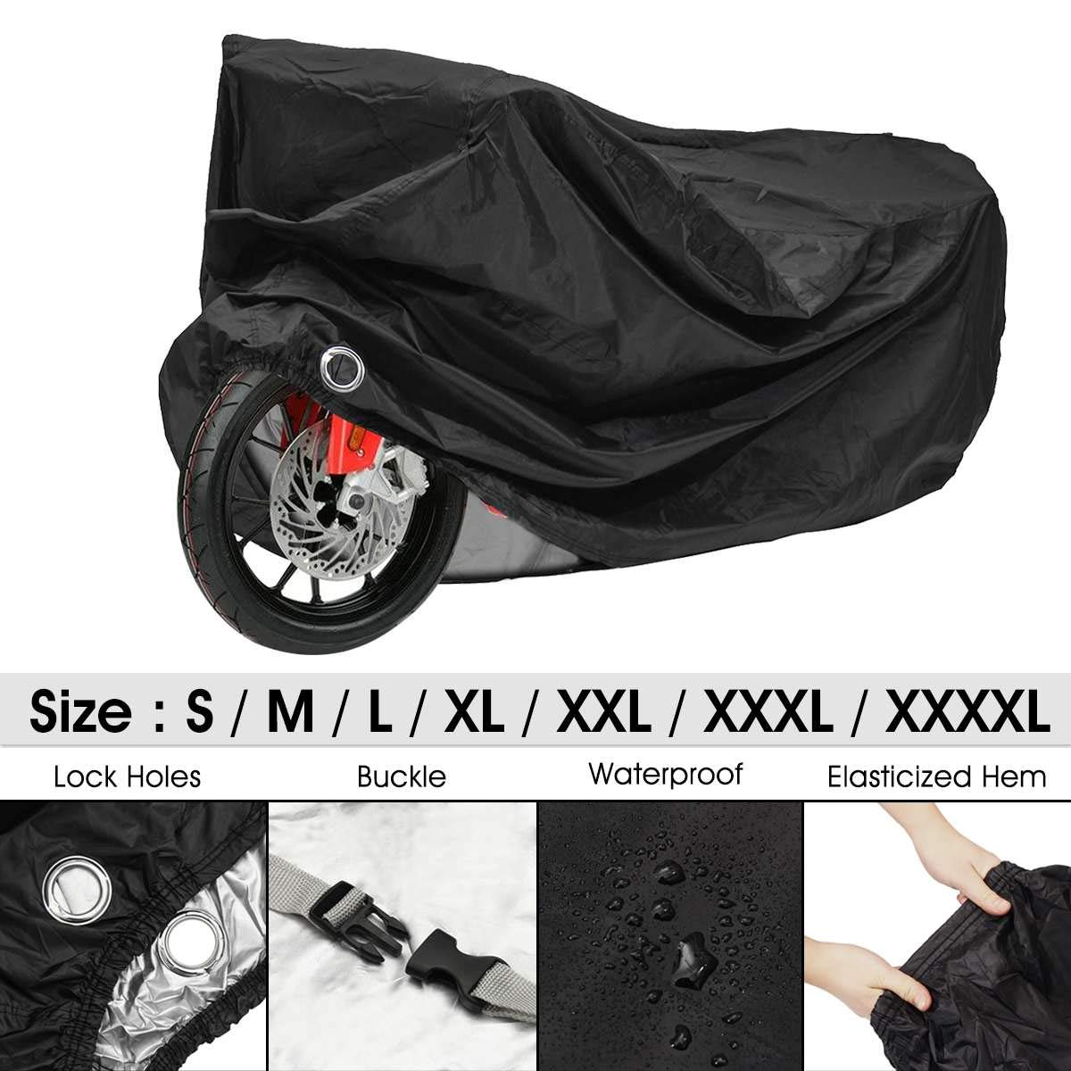 XXL Motorcycle Bike Scooter Cover Outdoor Waterproof Anti-Rain Snow Dust UV US