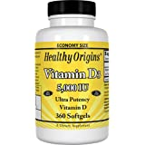 Healthy Origins Vitamin D3 5,000 IU (Non-GMO), 360 Softgels