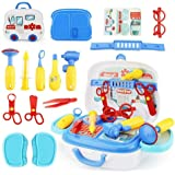 Doctor Kit Kids Doctor Toys for Kids with Ambulance Carrycase Medical Play Kit for Boys Girls