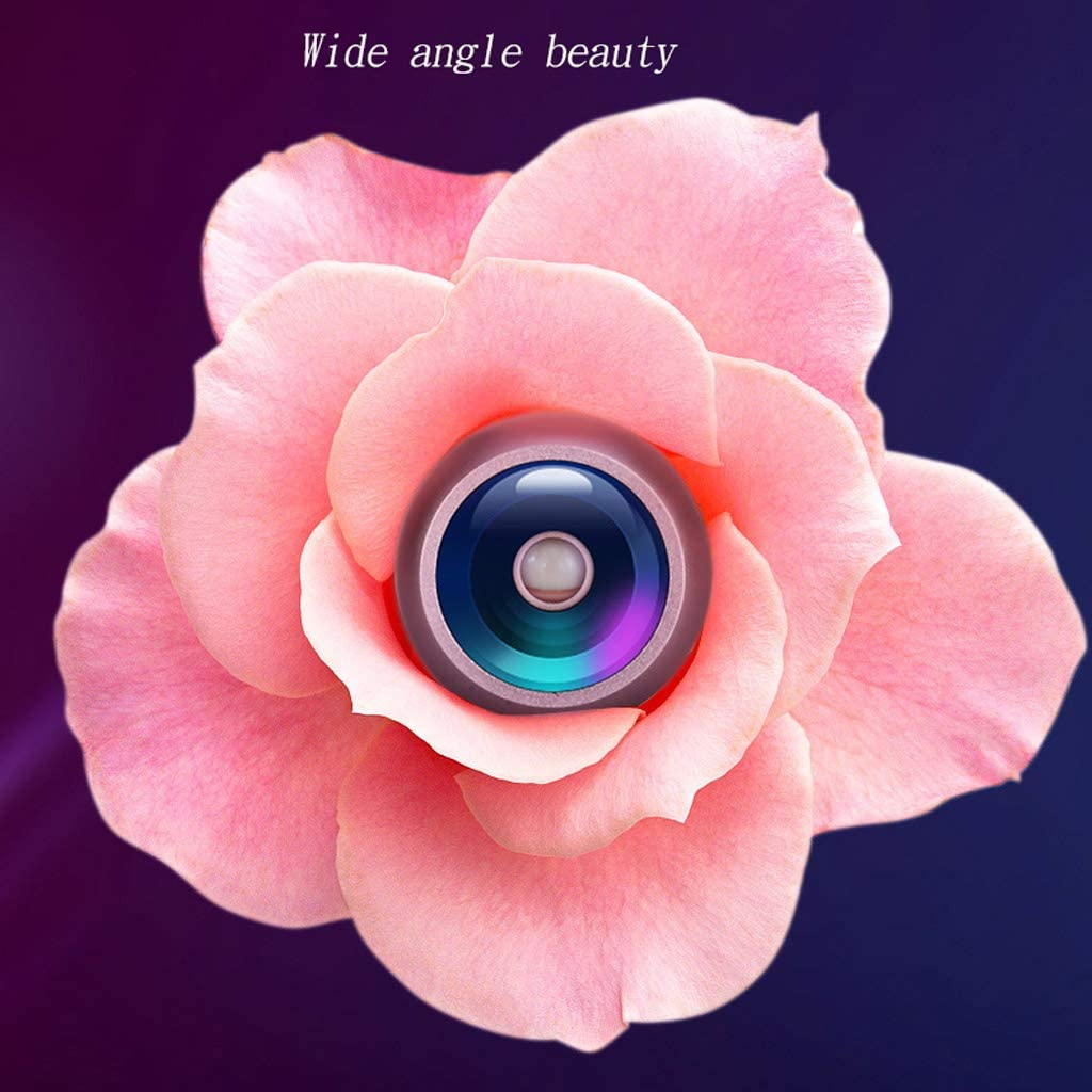 Main Beauty Mobile Phone Camera Fill light ZHAOSHUNLI Color : Pink, Size : Micro-Distortion Lens Style Rejuvenation Self-Timer Wide-Angle Macro