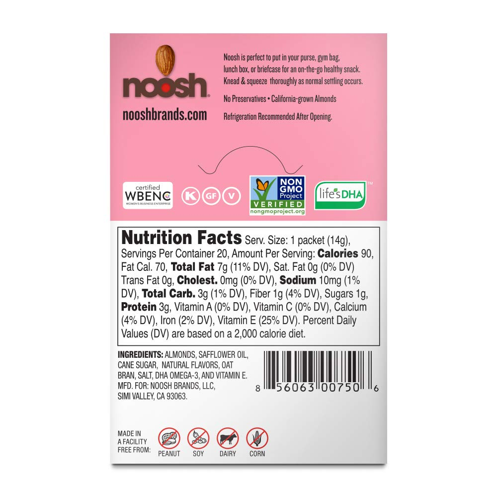 NOOSH Cupcake Almond Butter Packets (20 unidades ...