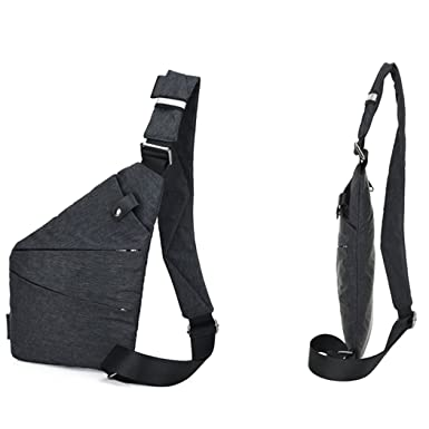 8944b1a829 ASlibay Anti-Theft Men S Messenger Bag Hidden Chest Pack Shoulder Bags  Retro Crossbody Bag Cool
