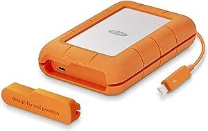 LaCie Rugged Thunderbolt USB-C 4TB Portable Hard Drive STFS4000800