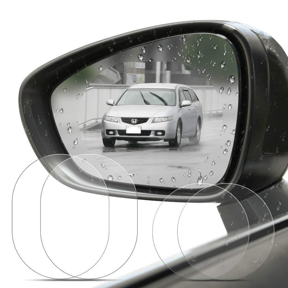 BizoeRade Oval Anti-Fog Waterproof Rainproof Anti-Glare Protective Film Anti-Scratch Screen Protector for Universal Car Bus Rear view Mirror 4 Pcs Car Rearview Mirror Protective Film