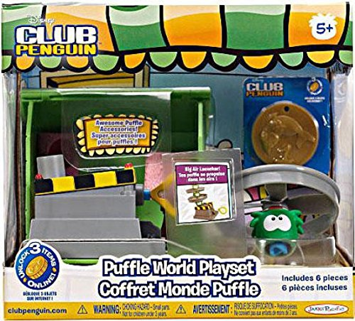 Club Penguin Green Puffle House with Propeller Launcher Play Set ()