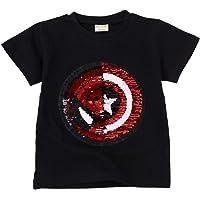 Camisetas Lentejuelas Mágico Reversibles Algodón Manga Corta Arriba Niño Niña 3-8 años