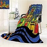 AmaPark Digital Printing Blanket Spiritual Faith Prince Tribal Oriental Bohemian Orange Blue Summer Quilt Comforter
