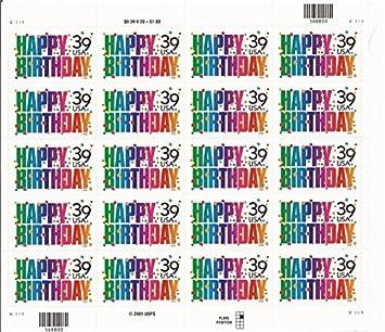 Happy Birthday 20 X 39 Cent US Postage Stamps Scot 4079 By Mail Amazonde Spielzeug