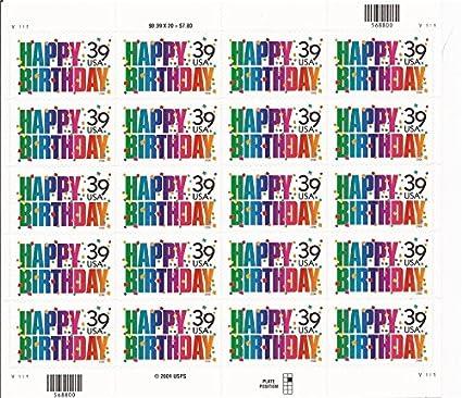 Happy Birthday 20 X 39 Cent US Postage Stamps Scot 4079
