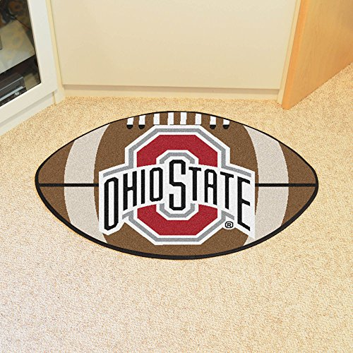 Ohio State University FANMATS Football Mat (State Football Shaped Rug)