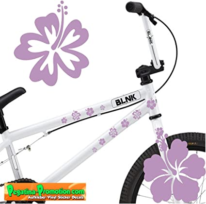 Pegatina para bicicleta (30 flores aprox. 3-4 cm lila) KT-0101-ES ...
