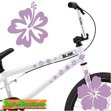 Amazon Fr Velo Motif Hibiscus 30 Lilas Autotattoo Bike