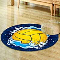 Round Rug Kid Carpet vector illustration of water polo ball  Home Decor Foor Carpe -Round 39