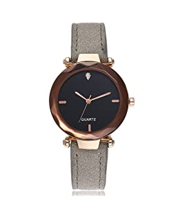 COOKI Women's Quartz Watches Ladies Luxury Analog Wristwatch Fashion Leather Band Watch Unique Dress Wrist Watch Casual Elegant Watches for Women Women Watches Prime (G)