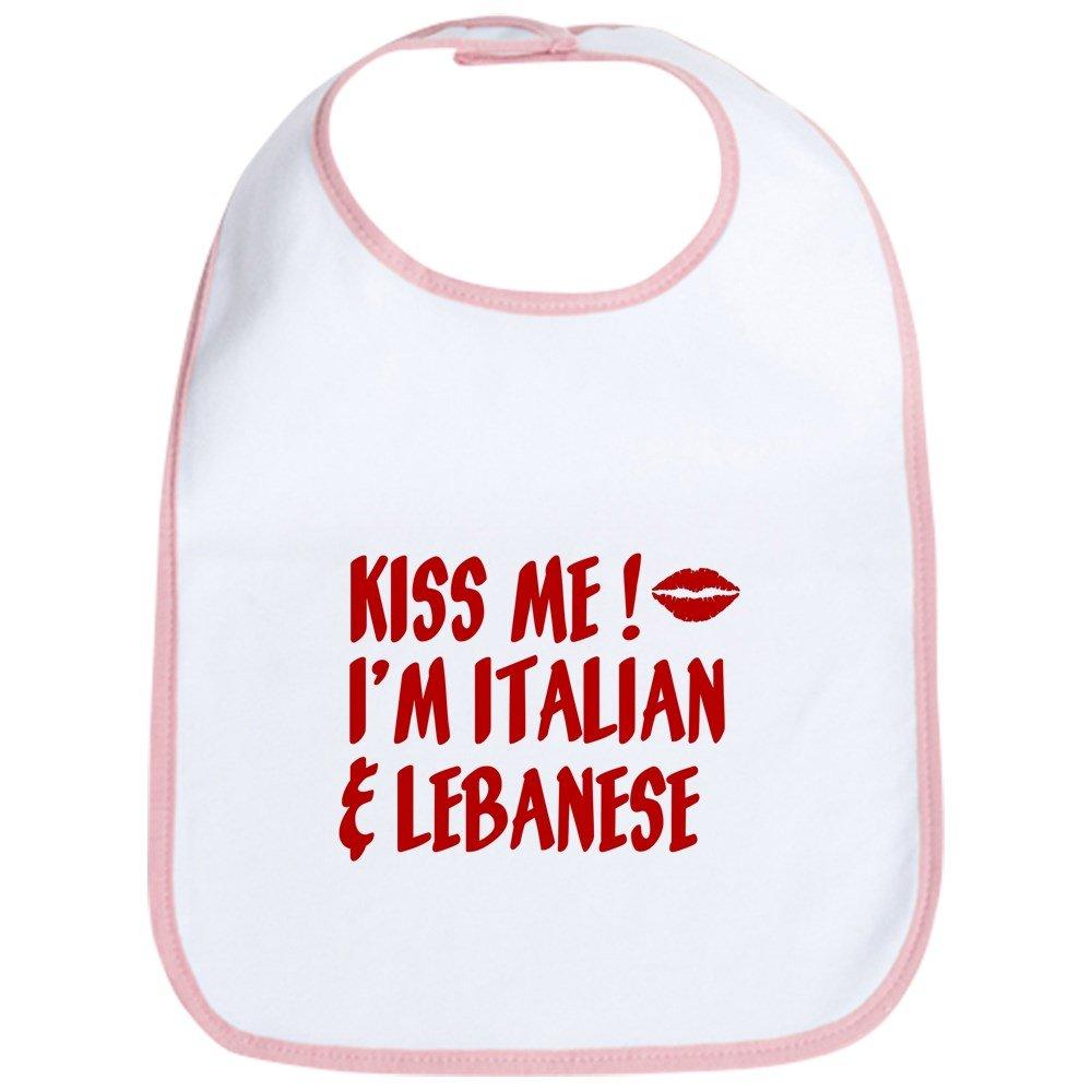 CafePress - Kiss Me: Lebanese & Italian - Cute Cloth Baby Bib, Toddler Bib