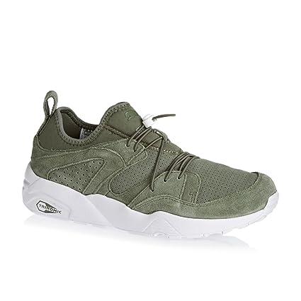 f28218494ef0cf Puma BLAZE OF GLORY SOFT Khaki Suede Leather Men Sneakers Shoes Trinomic   Amazon.co.uk  Shoes   Bags