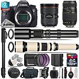 Canon EOS 6D DSLR Camera + Canon EF 24-70mm 2.8L II USM Lens + 650-1300mm Telephoto Lens + 70-300mm Macro Lens + 500mm Telephoto Lens + 2yr Extended Warranty + 32GB Class 10 - International Version