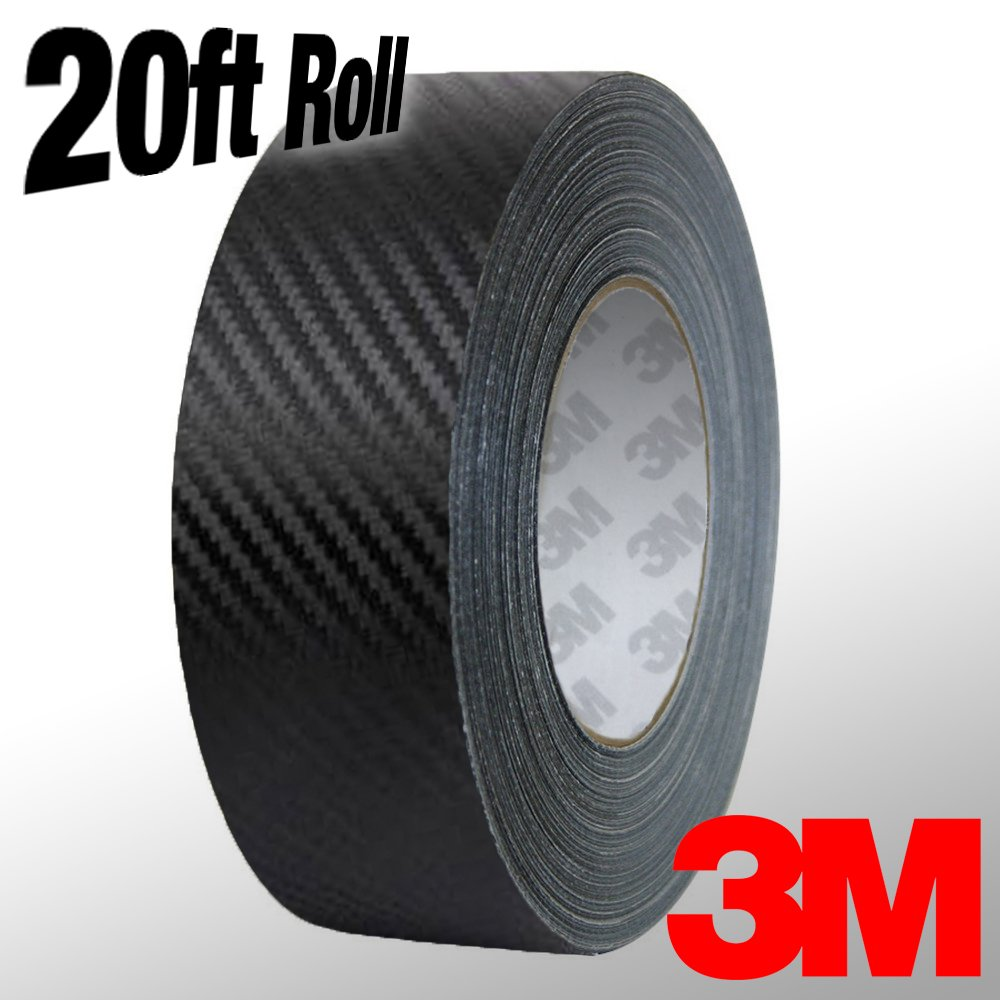 BHBAZUKAZIND613 VViViD 3M 1080 Black Carbon Fiber Vinyl Detailing Wrap Pinstriping Tape 20ft Roll 1//4 x 20ft roll